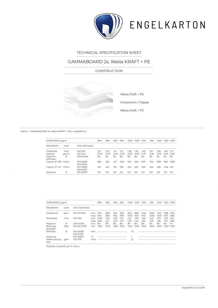 GAMMABOARD 2s Weiss-KRAFT+PE Img